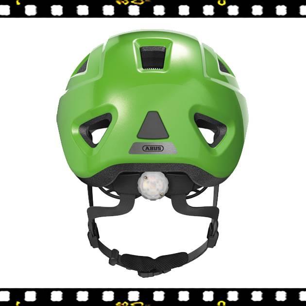 abus anuky 2.0 zöld bukósisak hátul