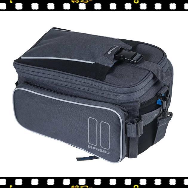basil sport design szürke biciklis táska csomagtartóra