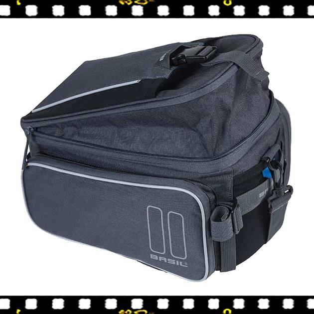 basil sport design szürke biciklis csomagtartó táska