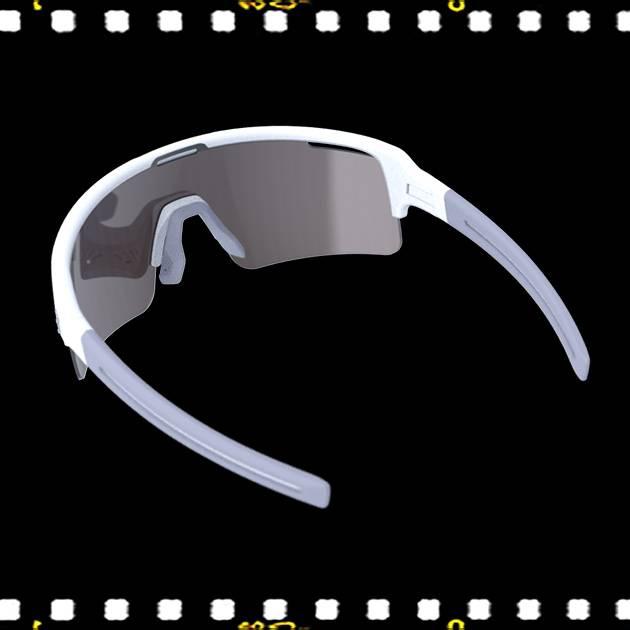 bbb fuse matt fehér biciklis szemüveg hátulról