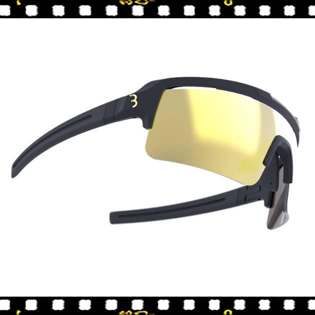 bbb fuse sportos matt fekete biciklis szemüveg mlc lencsékkel