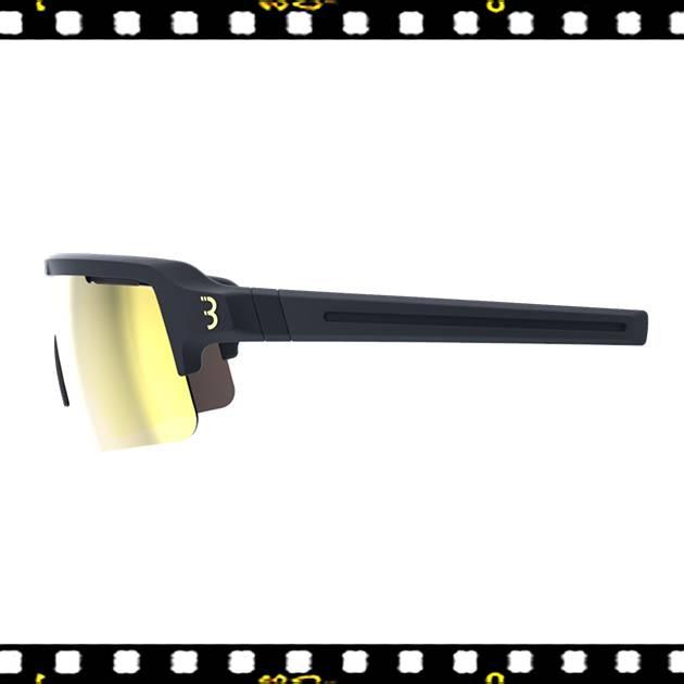 bbb fuse matt fekete biciklis szemüveg mlc lencsékkel oldalt