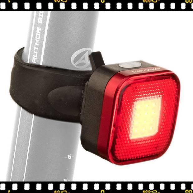 author square usb-vel tölthető kerékpár lámpa