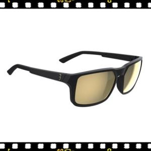 bbb spectre matt fekete biciklis szemüveg arany lencsével
