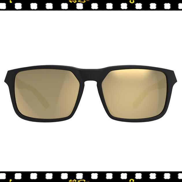 bbb spectre matt fekete biciklis szemüveg arany lencsével elöl