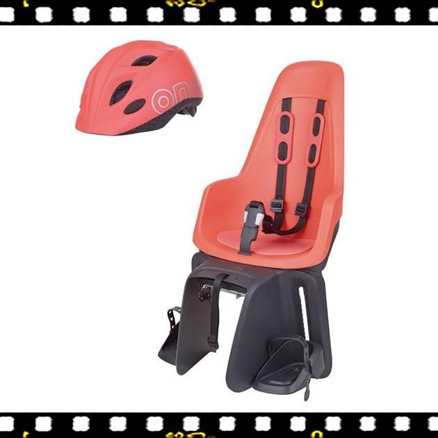 bobike one maxi hátsó gyerekülés flamingo xs-es sisakkal kerékpárra