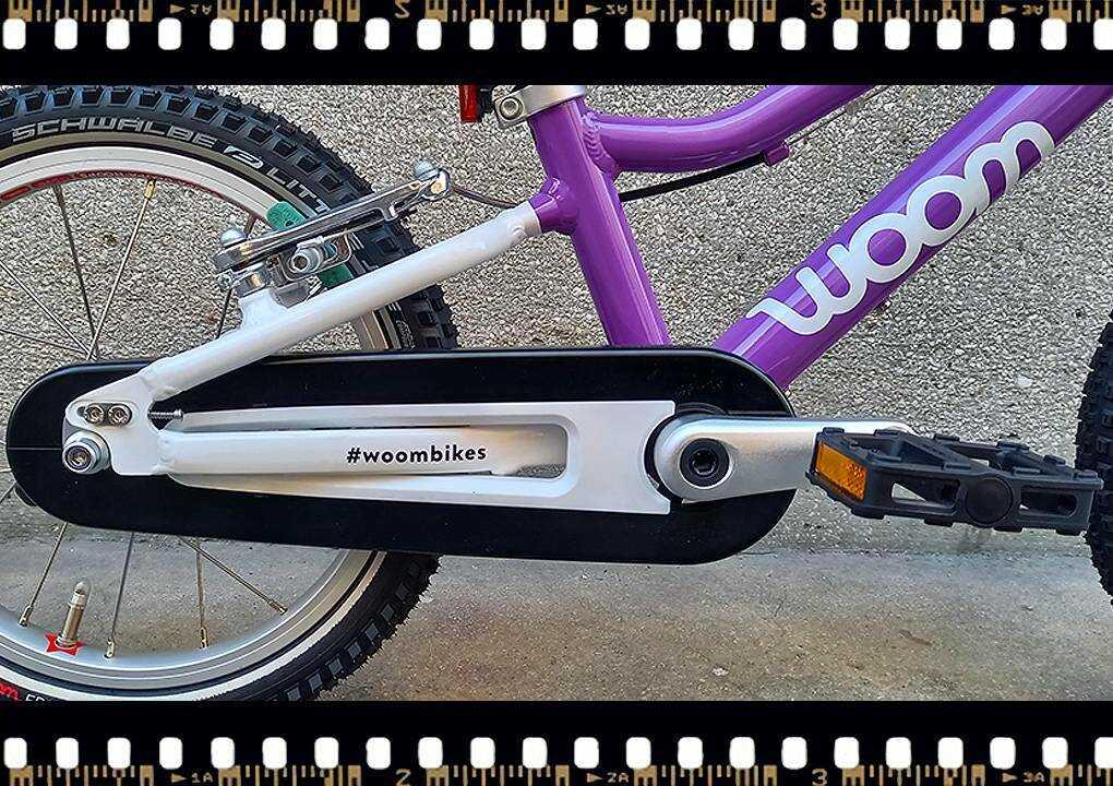 woom2 14-es méretű gyerek bicikli hajtómű