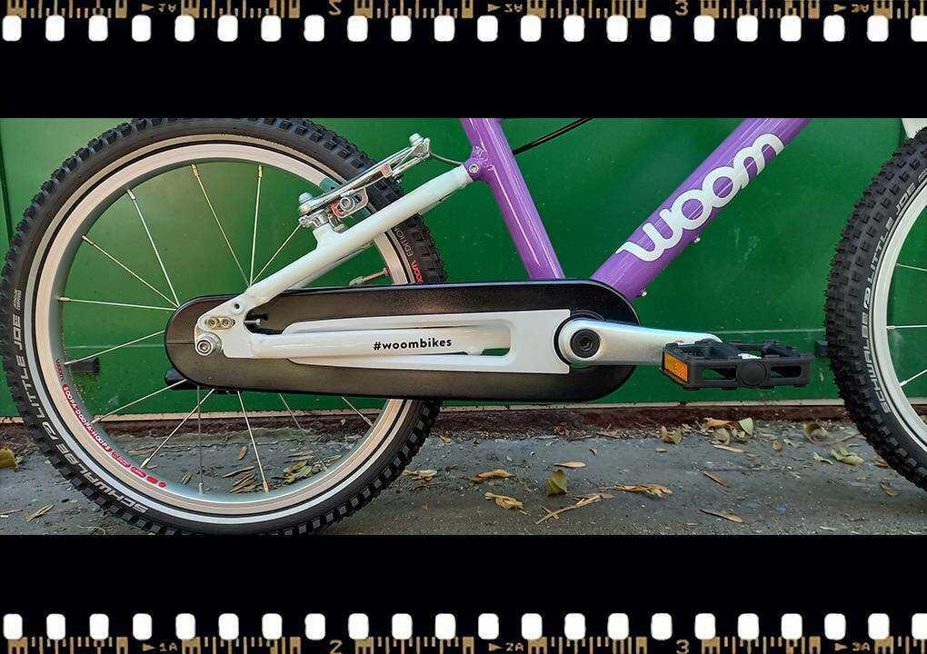 woom3 16-os méretű gyerek bicikli hajtómű