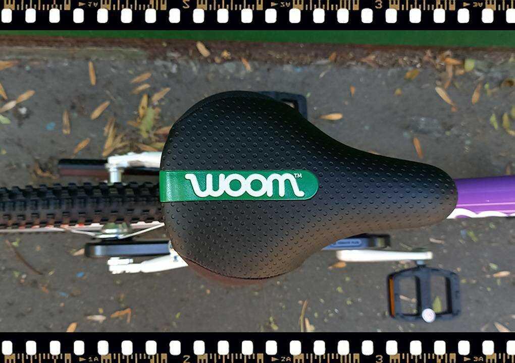 woom3 16-os méretű gyerek bicikli nyereg