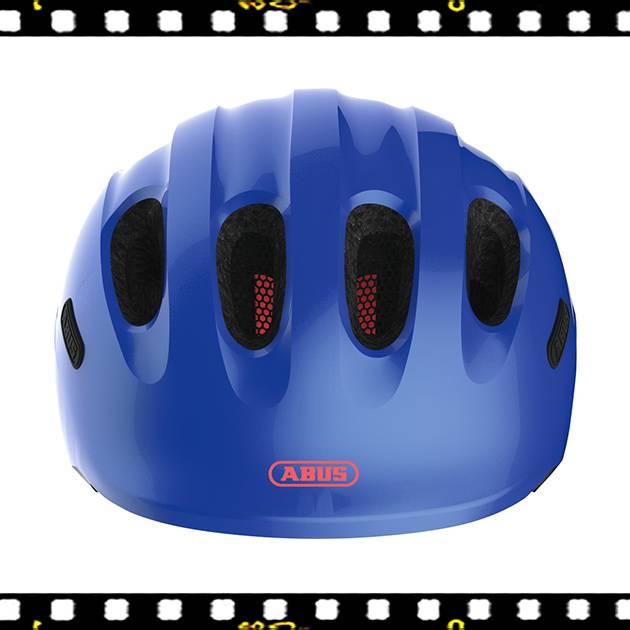 abus smiley 2.1 kék kerékpáros bukósisak elölről
