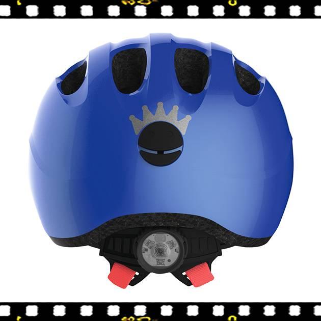 abus smiley 2.1 kék kerékpáros bukósisak hátulról
