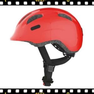 abus smiley 2.0 piros kerékpáros bukósisak oldalról
