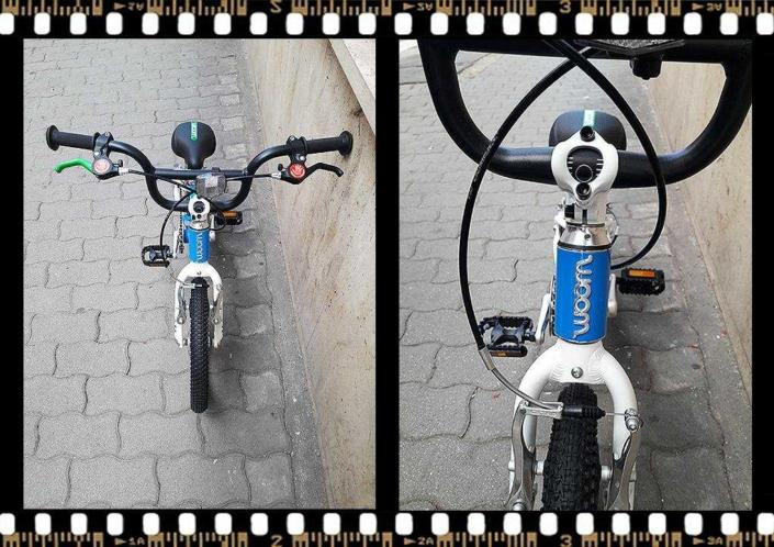 woom2 14-es méretű kék gyerek kerékpár alu vázas