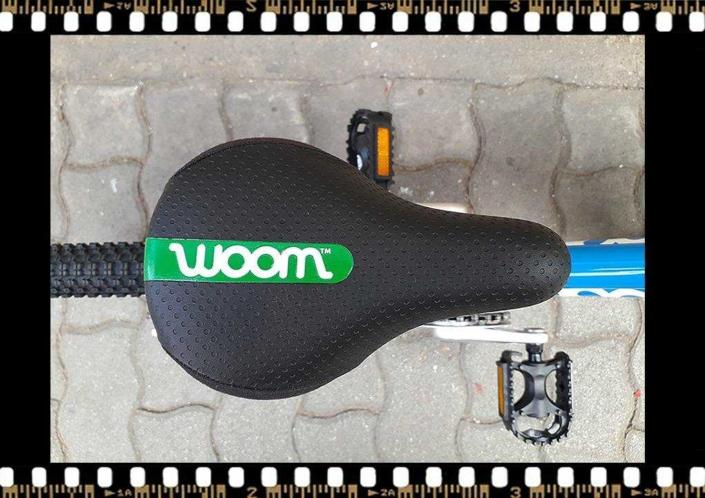 woom2 14-es méretű kék gyerek bicikli nyereg