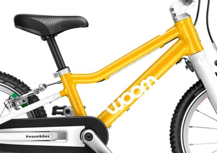 woom2 14-es méretű sárga gyerek bicikli váz