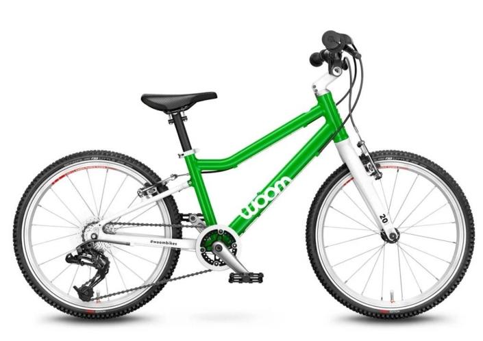woom 20-as méretű zöld aluminium vázas gyerek bicikli